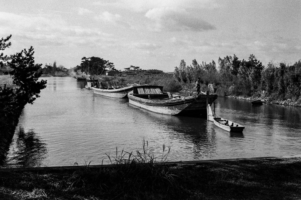 329-Boats Approaching Canal Lock