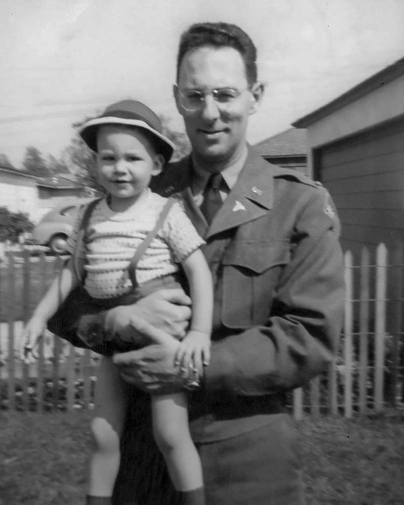 George Butler and son Alan Butler just before leaving for Japan, Spring 1951