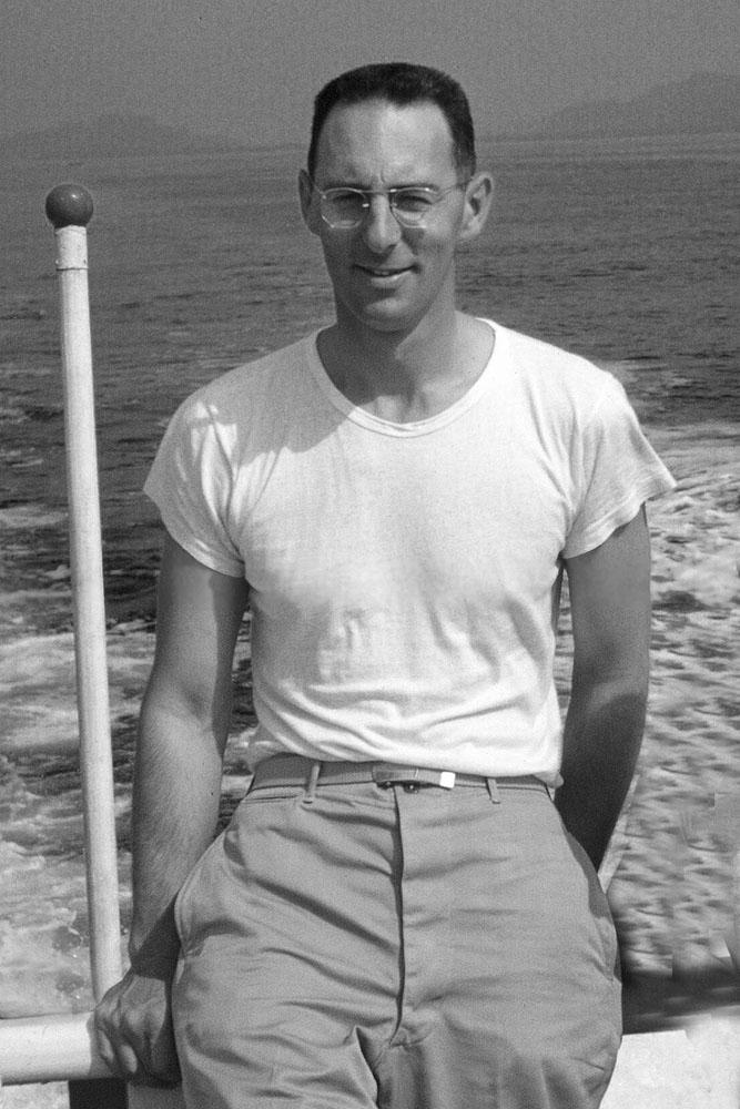 George Butler on Matsushima Bay 1951