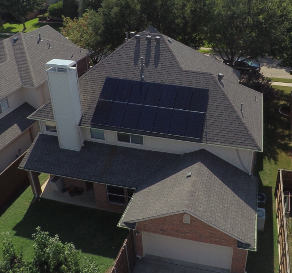 Plano Texas residential solar panels