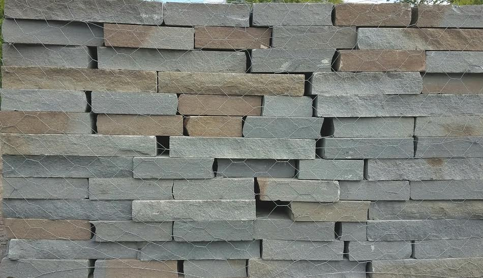Bluestone Thin Veneer Wall