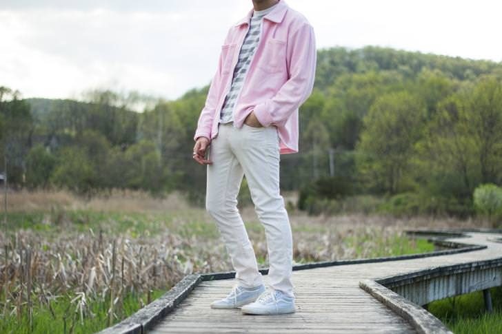 Pink Reverse Terry Over Shirt