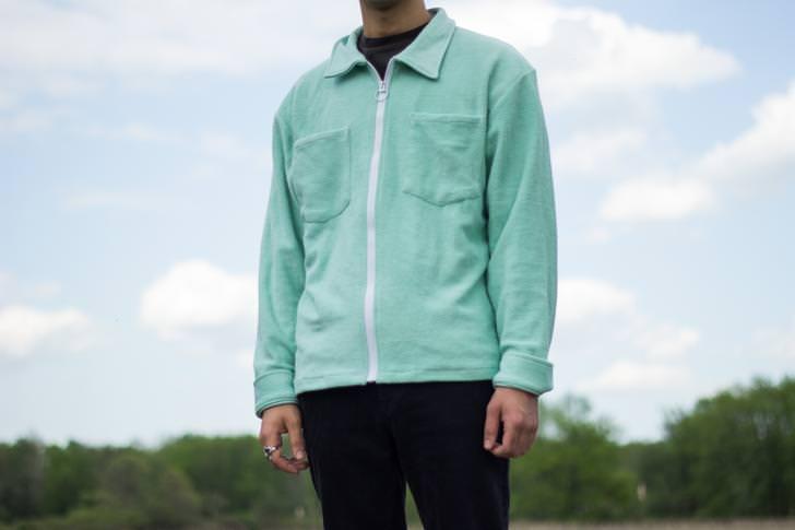 Mint Reverse Terry Over Shirt