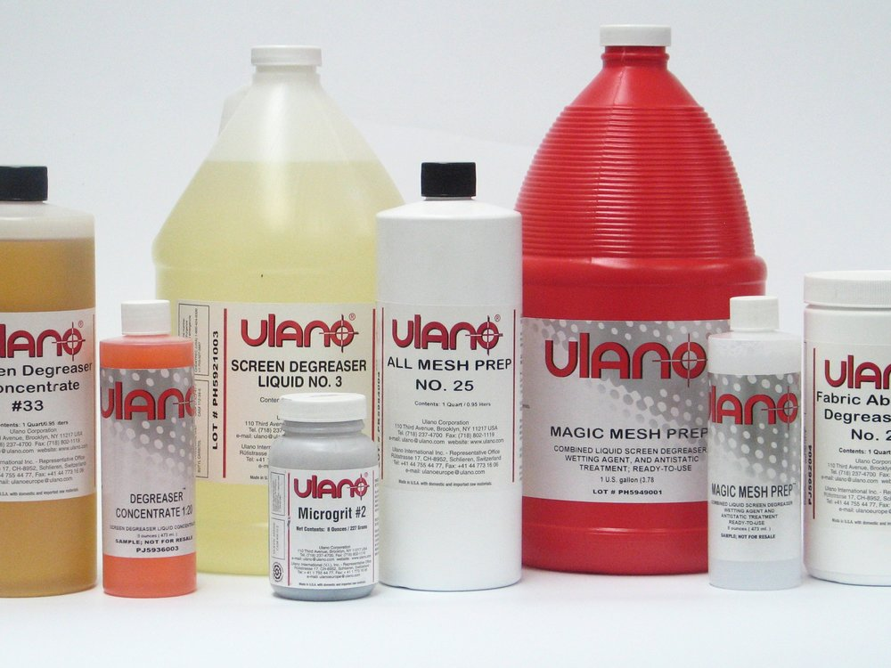 Screen Chemicals -