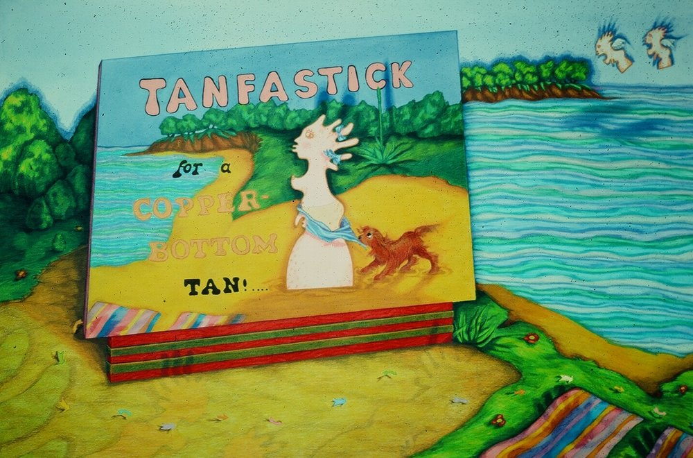"Tanfastic for a Copperbottom Tan, 40"" x 29"""