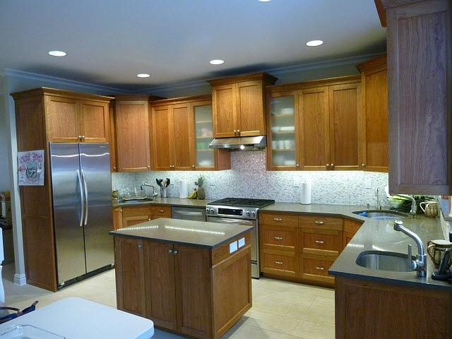 Braga woodworks for Anigre kitchen cabinets