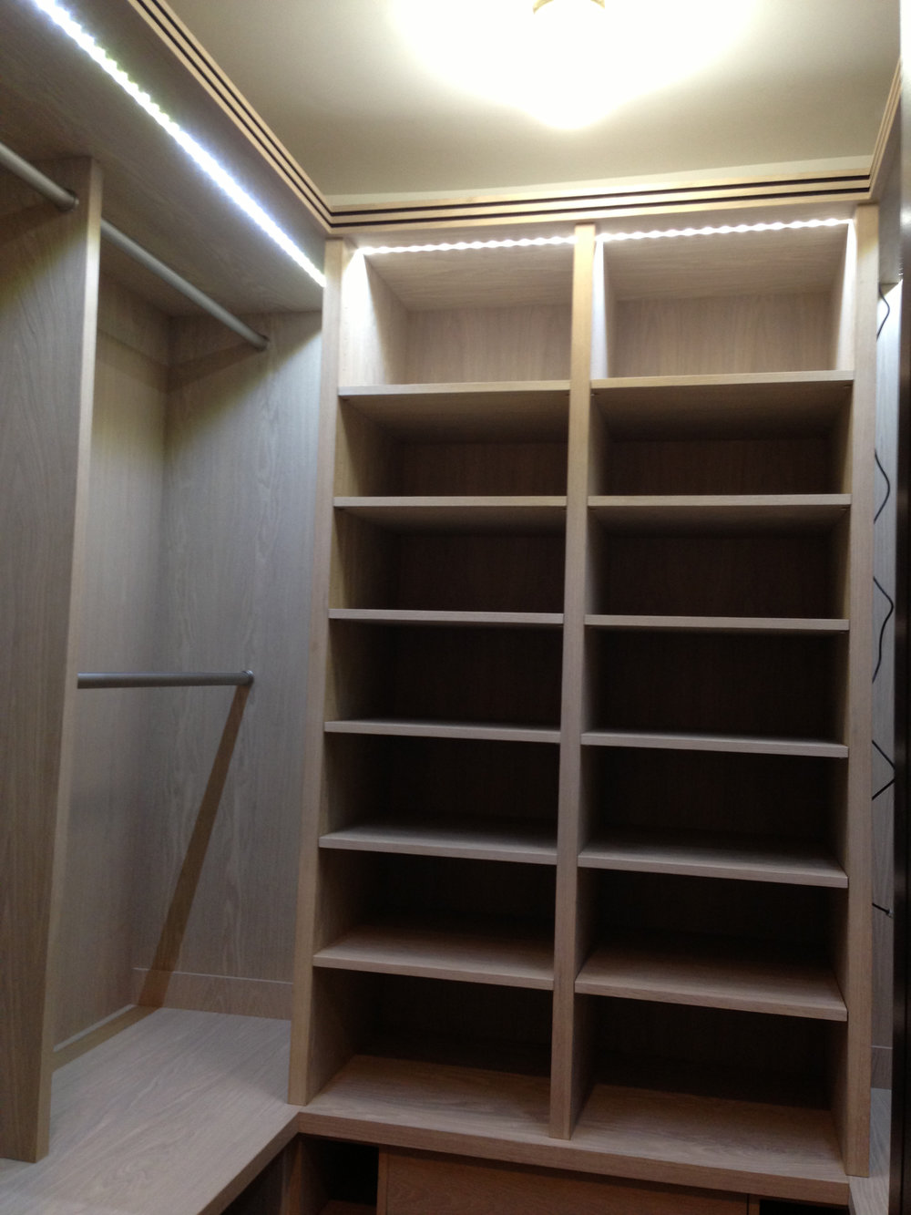 Superb White Oak Custom Closet 1