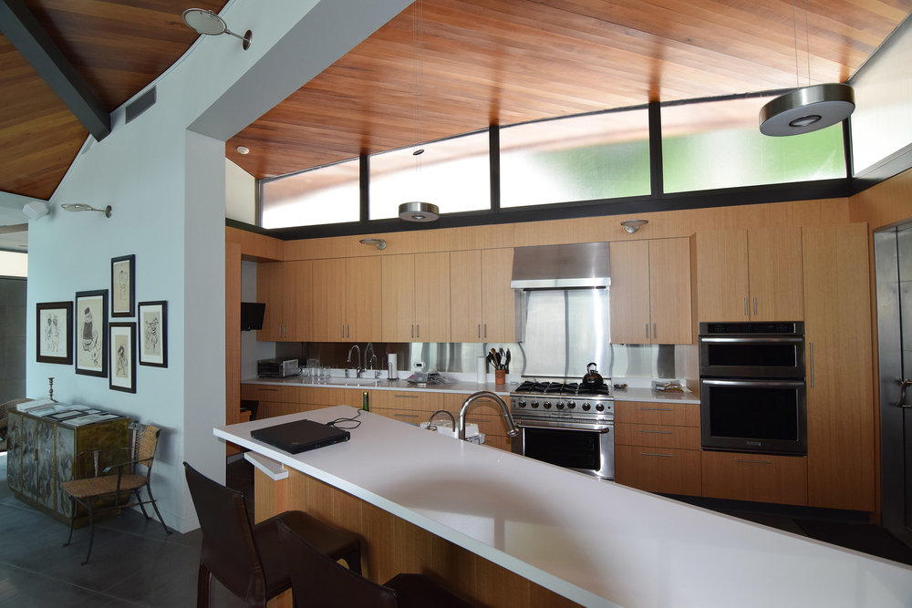 Rift Anigre Custom Kitchen Cabinets & Paneling
