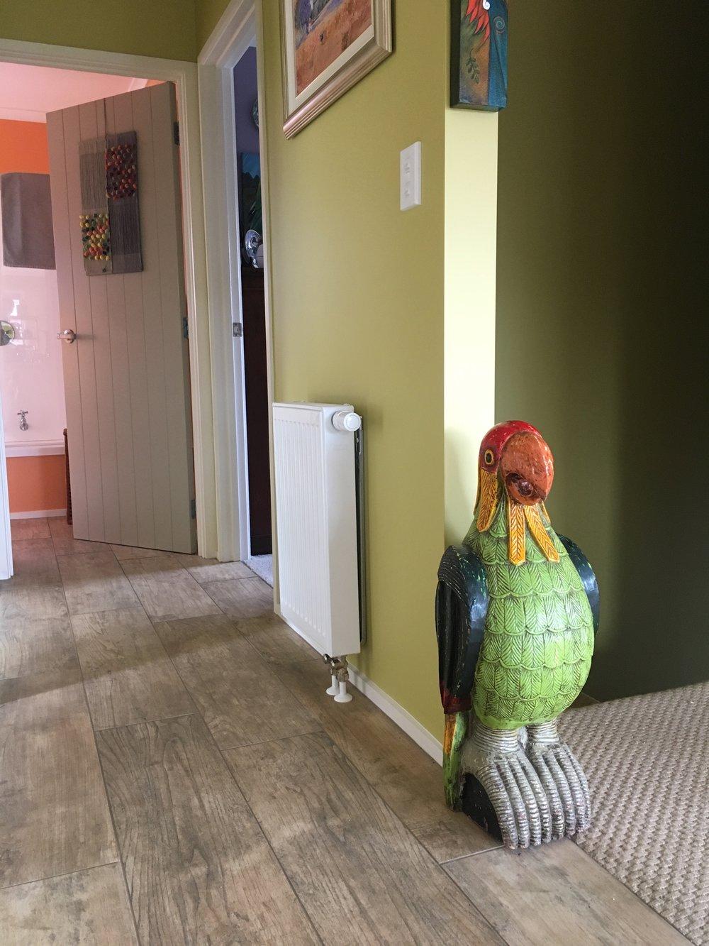 Small hallway radiator