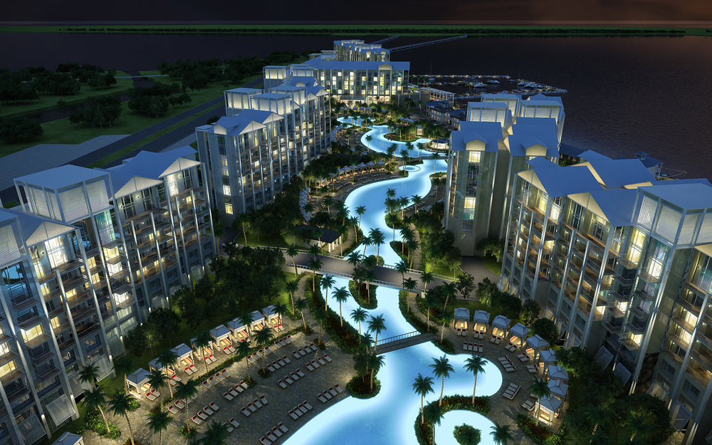 Night Rendering of Sunseeker Resort in Port Charlotte, FL