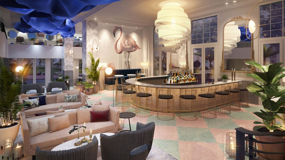 Bar rendering at The Celino South Beach