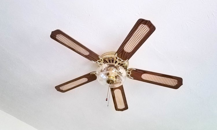 How to makeover your ceiling fan create laugh grow how to makeover your ceiling fan diy before aloadofball Image collections