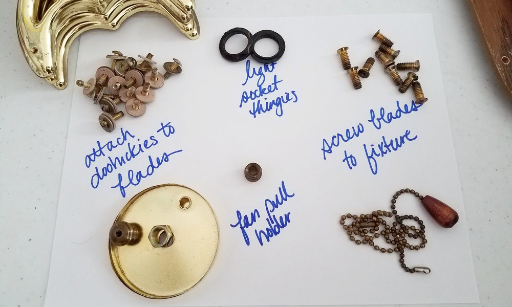 How To Makeover Your Ceiling Fan DIY: Hardware