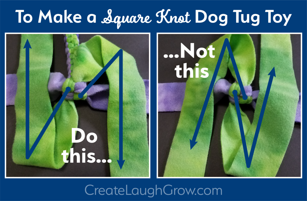 Fleece Square Knot Dog Tug Toy: Square, Not Round