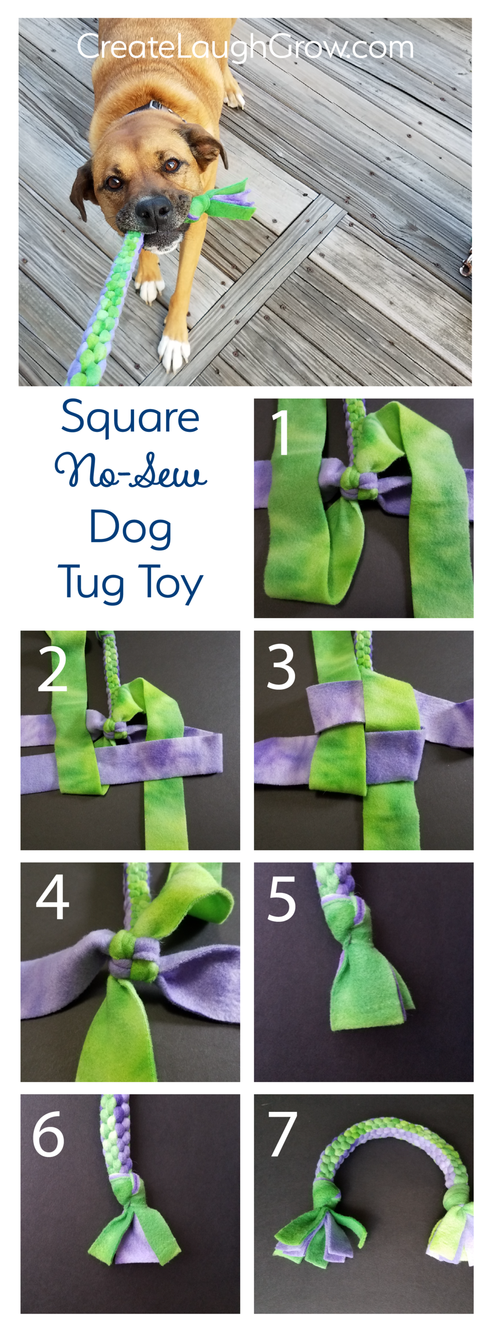 4f27c3ac40 How to Make a Square Knot Dog Tug Toy — Create Laugh Grow