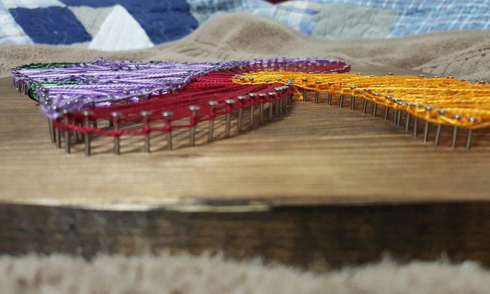 Mushroom String Art Side