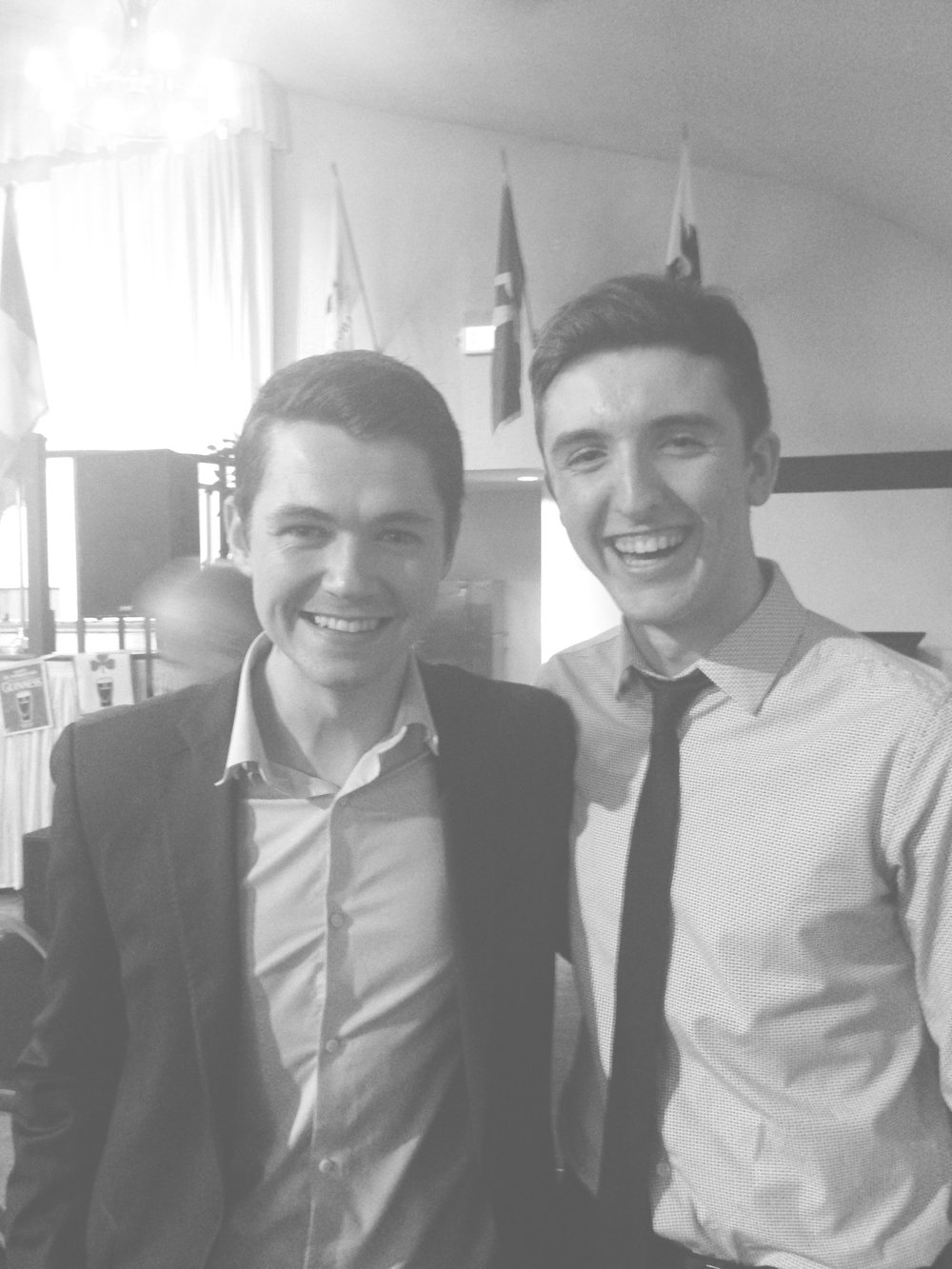 Ryan with Damian McGinty!