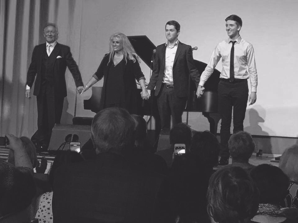 Ryan bowing with Phil Coulter, Geraldine Brannigan, and Damian McGinty!