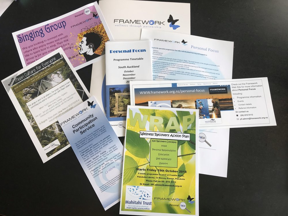 Lots of ways to be involved at Framework Trust
