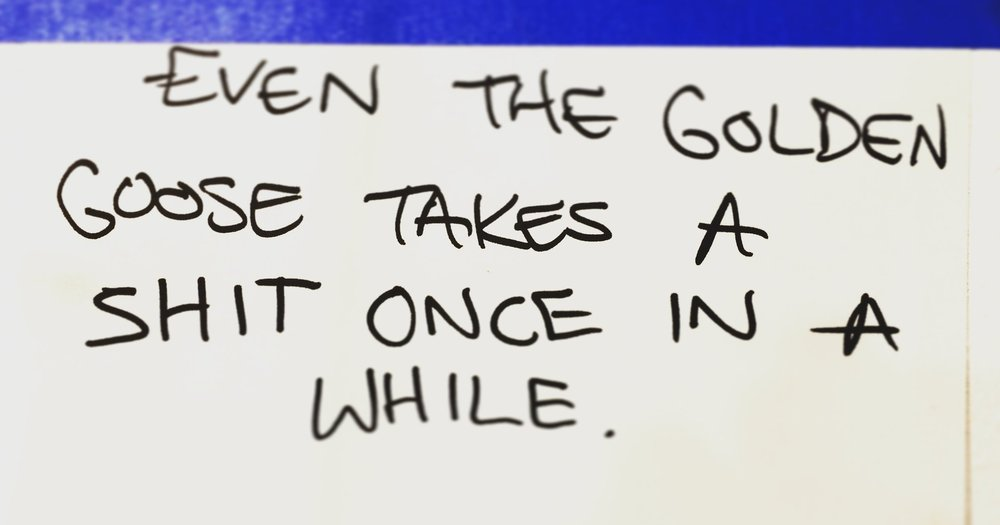 Actual note from my studio wall to remind me that bad days are still days.