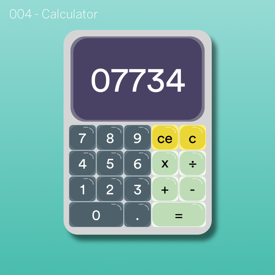 dailyUI - #004 Calculator.png