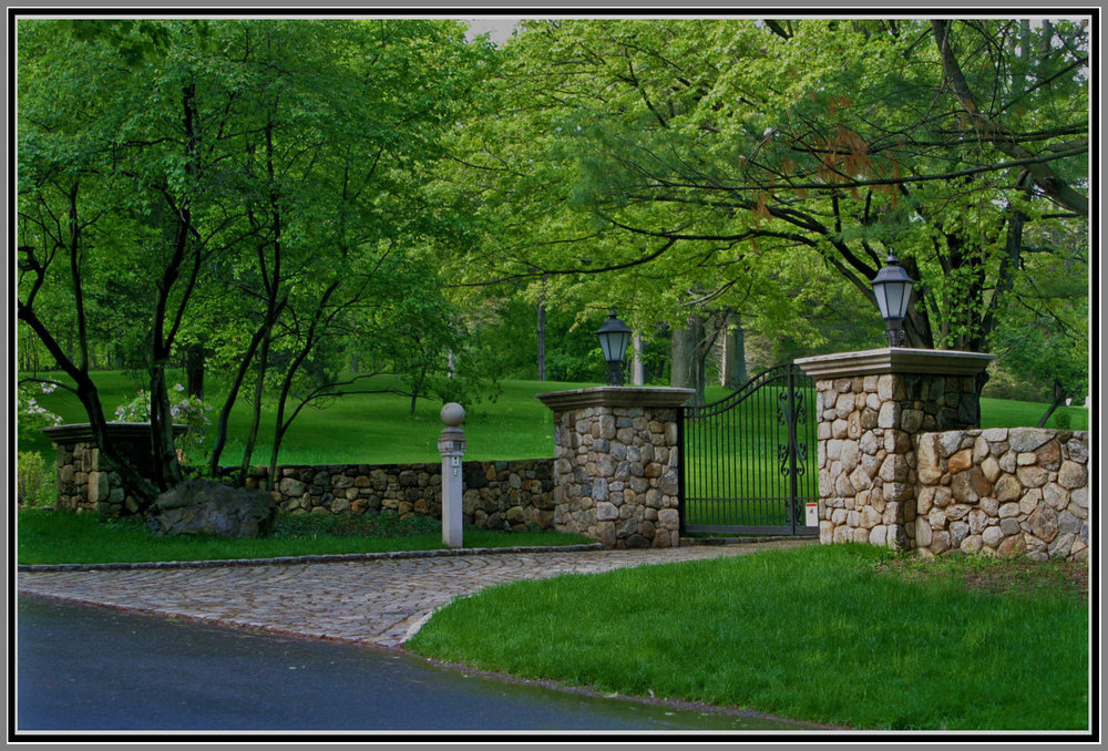 Majestic Gated Entrance by Artistic Outdoors