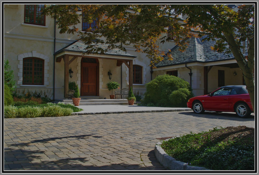 Grand Entrance with Paver and Blue Stone Walk