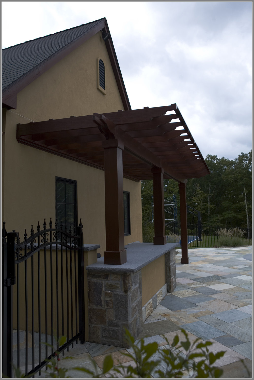 Pergola over Built-in Grill