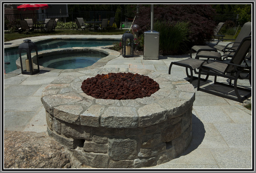 Stone Fire Pit by Artistic Outdoors