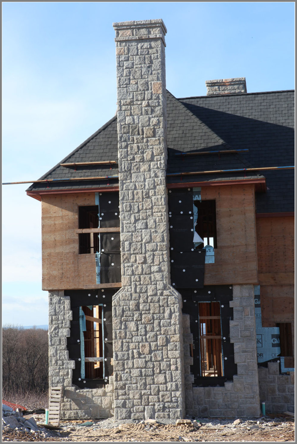 Stone Chimney by Artistic Outdoors