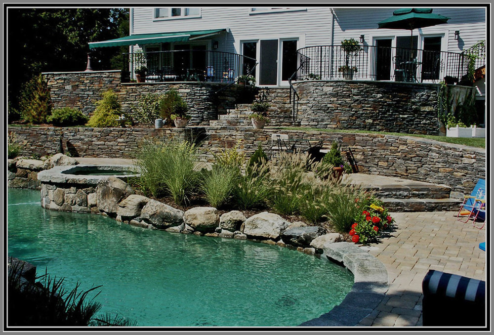 Stone terrace by Artistic Outdoors
