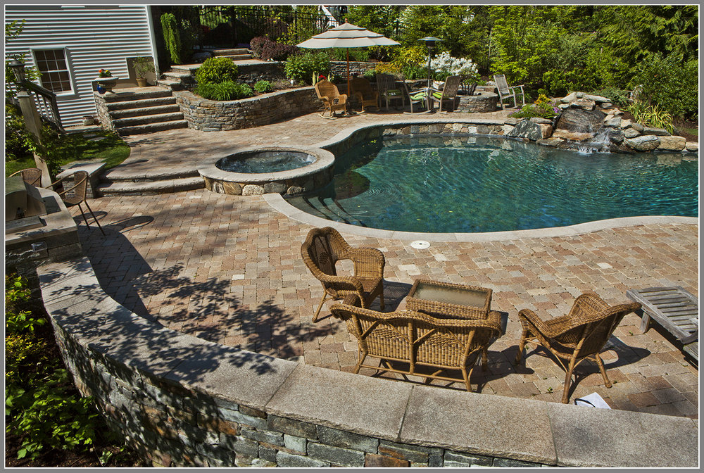 Best masonry- stone patio, wall and steps