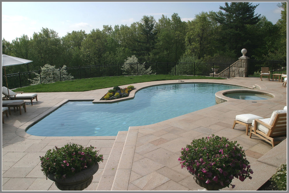Chinese granite pool deck by Artistic Outdoors