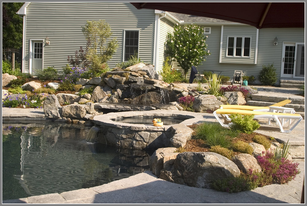 Pool landscape with boulders
