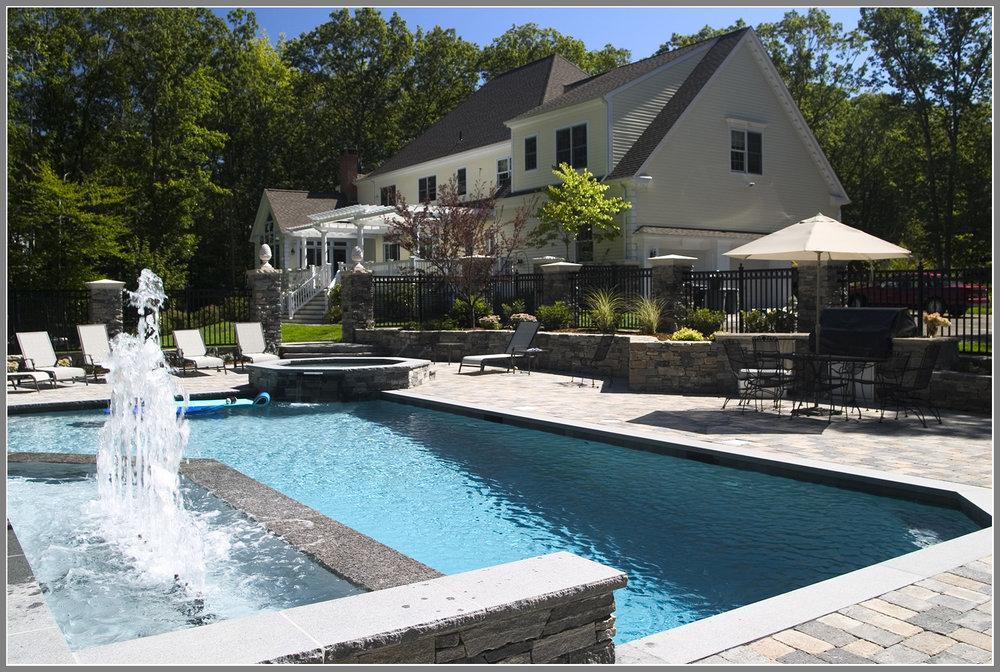 Creative custom pool design and masonry