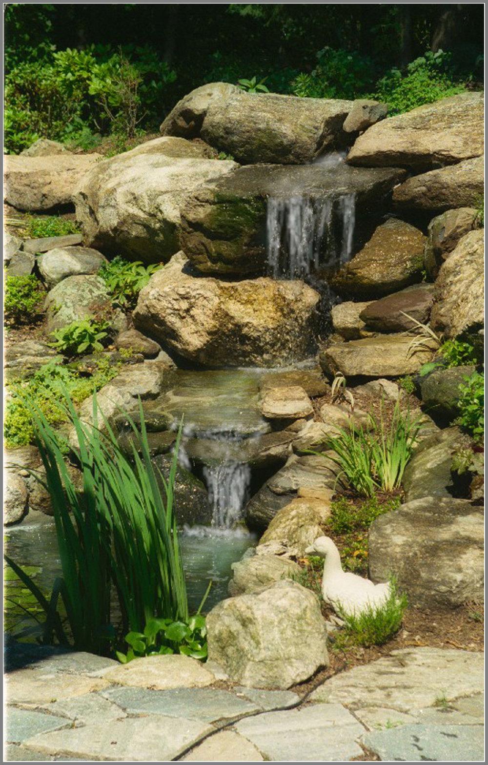 Waterfalls, water garden