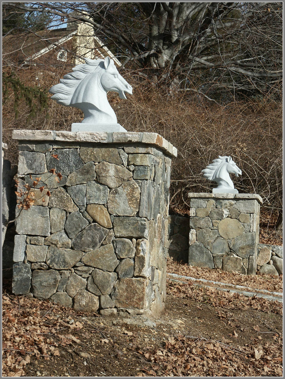 Horse statue for a horse farm