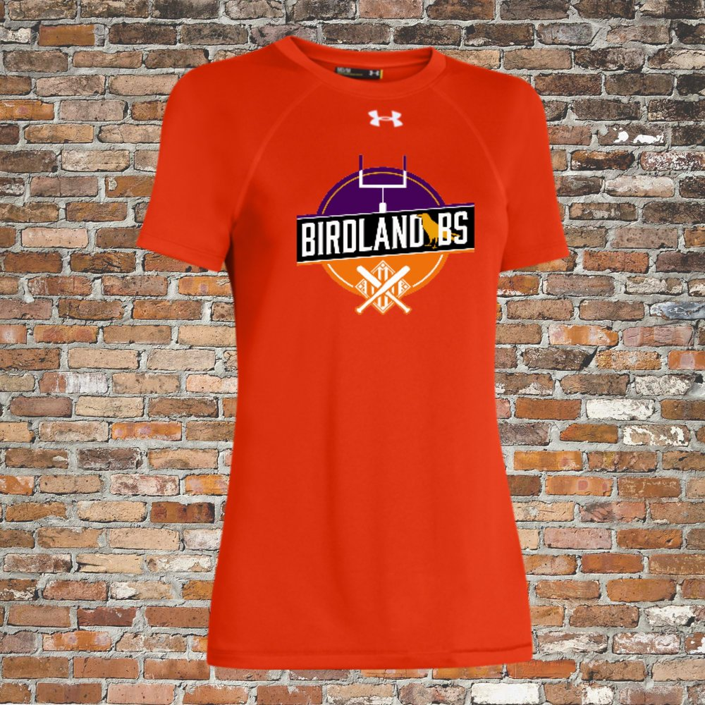 Under Armour Women's Locker Short Sleeve Tee (Orange):Click for Special Pricing
