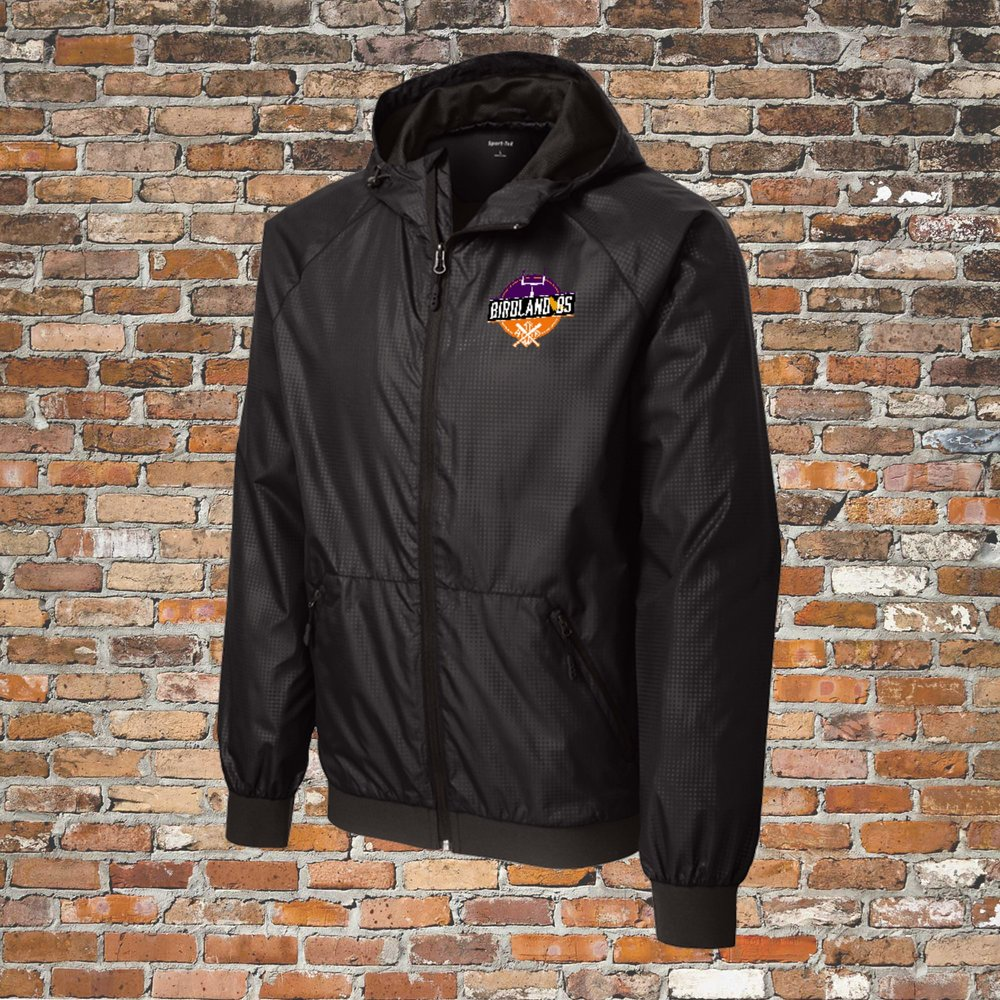 Sport-Tek Embossed Hoodie Wind Jacket (Black): Click for Special Pricing
