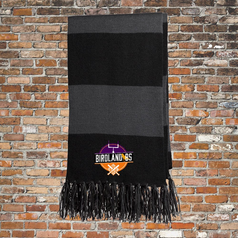 Sport-Tek Spectator Scarf (Black and Gray): Click for Special Pricing