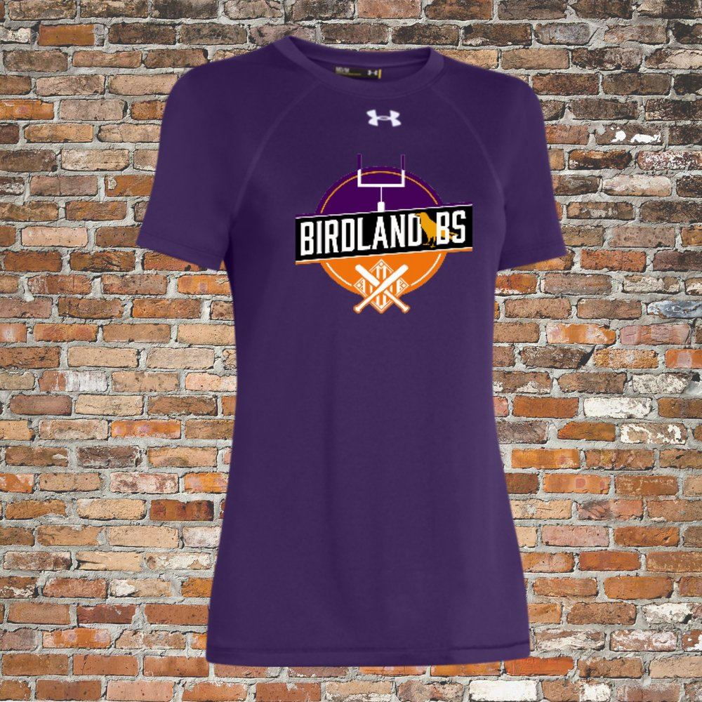 Under Armour Women's Locker Short Sleeve Tee (Purple):Click for Special Pricing