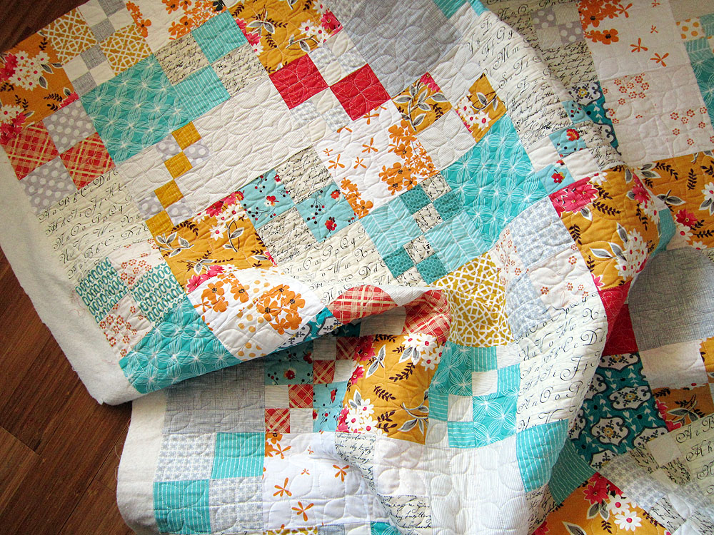 Quilten Voor Beginners.Penny Patch A Beginner S Quilt Along Stitched In Color