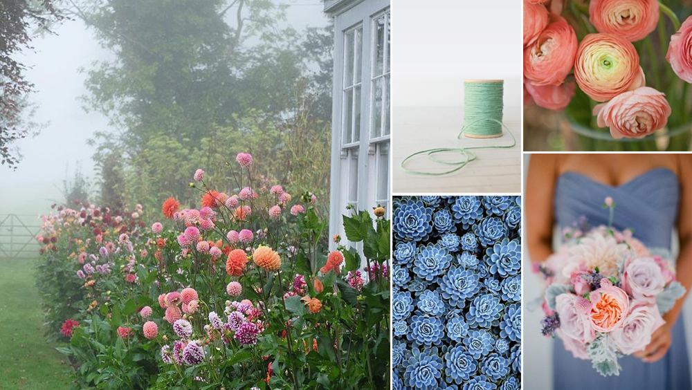 garden, twine, succulents, ranunculus, bouquet