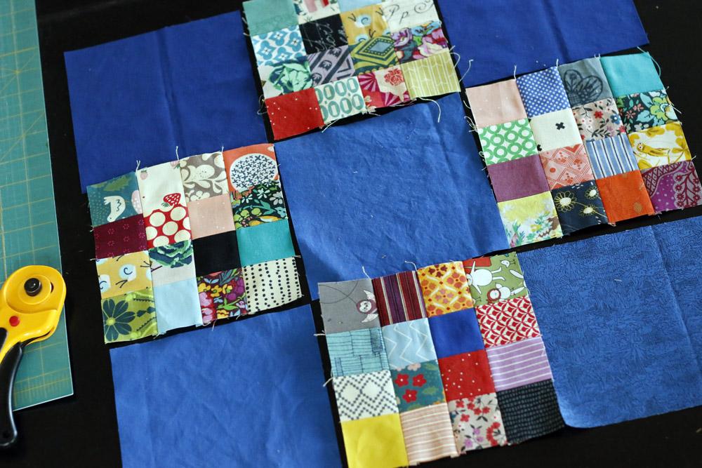 Simple patchwork quilt design