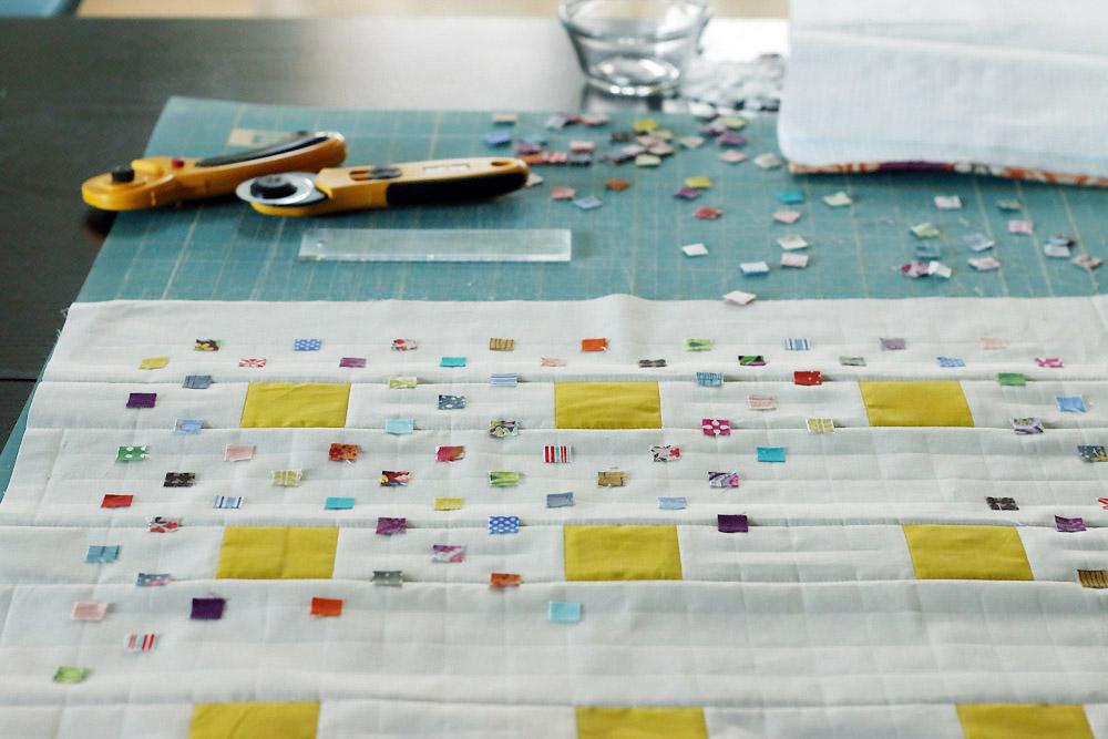 scrap fabric confetti