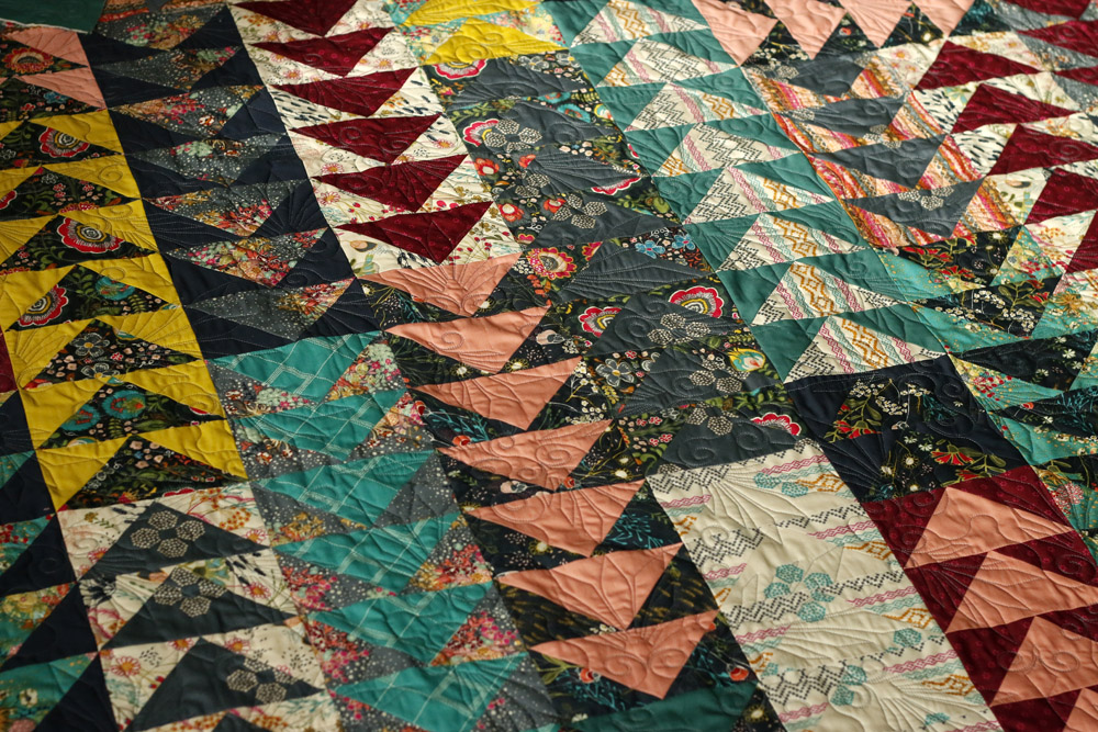 Flying geese quilting