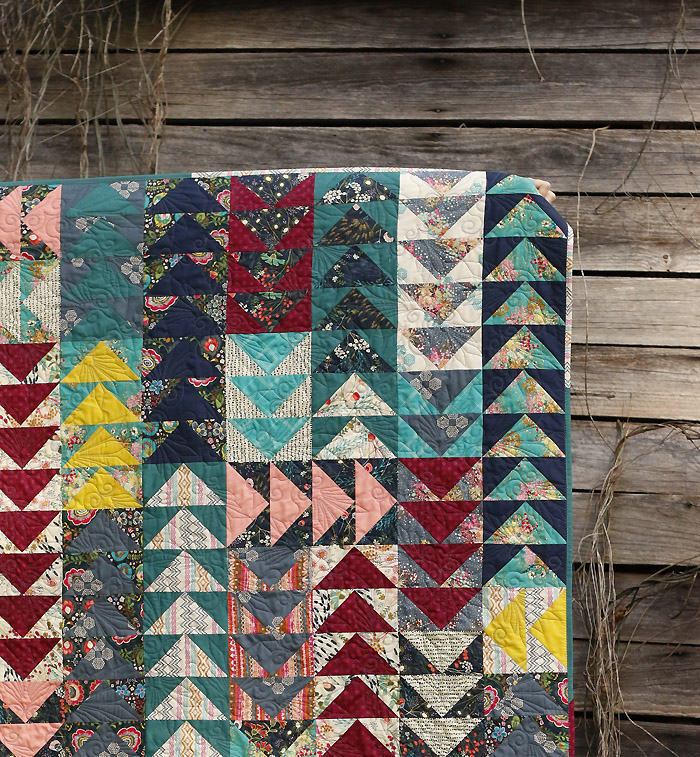 Indie Folk Flying Geese quilt
