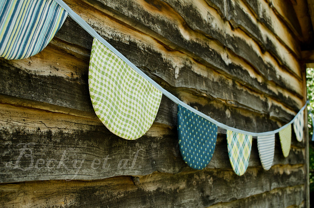 Scallop Bunting project by Becky Etal