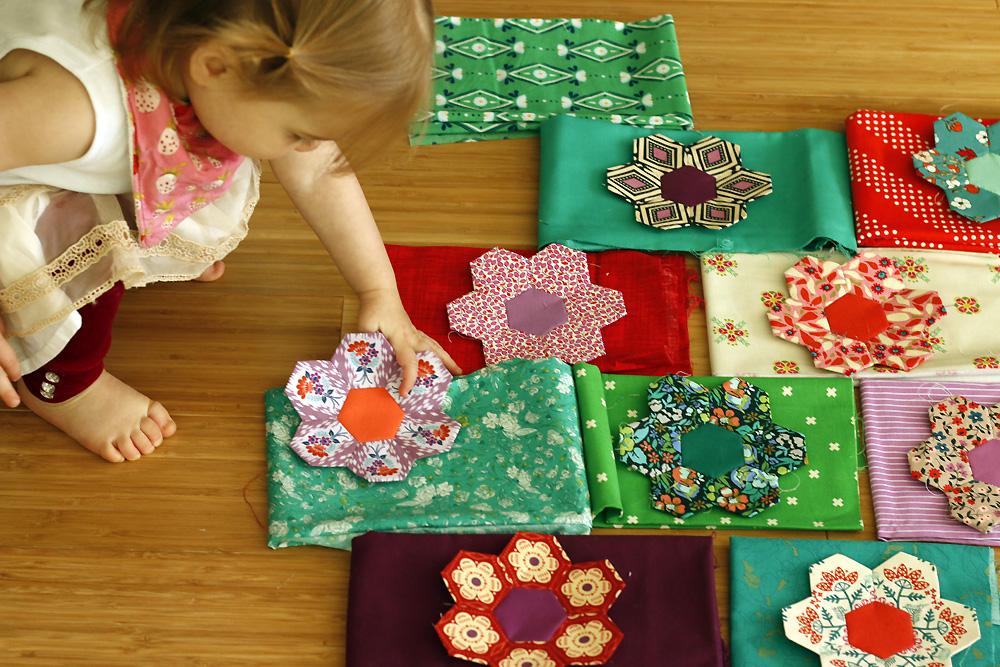 arranging hexagon flowers.jpg