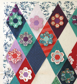 Kingfisher Stitch-Along: Cutting Diamonds — Stitched in Color